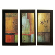 Aspire Home Accents Modern Wall Plaque - Set of 3 - 11.5W x 26H in. ea.