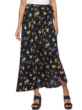 Scoop Women's Printed Wrap Skirt