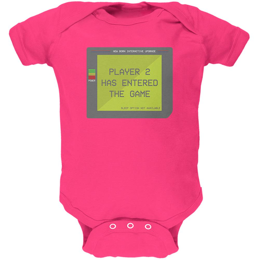 Player 2 Two Costume New Born Gamer Funny Soft Baby One Piece