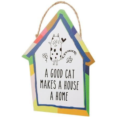 Pavilion - A Good Cat Makes a House a Home - Magnetic Ornament