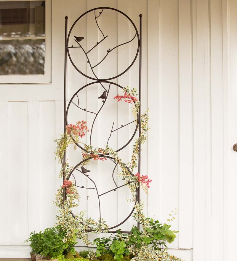 Circle Of Birds Trio Garden Trellis by Plow & Hearth