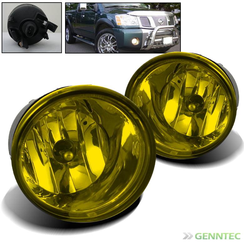 2005-2007 Armada 2004-2014 Titan Yellow Bumper Fog Lights+Switch+Bulb+Harness Set 2006 Pair Left+Right