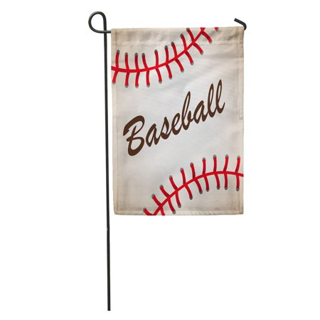 LADDKE Red Softball Big Baseball Ball Abstract American Artistic Athletic Garden Flag Decorative Flag House Banner 12x18 inch](Baseball Banner)