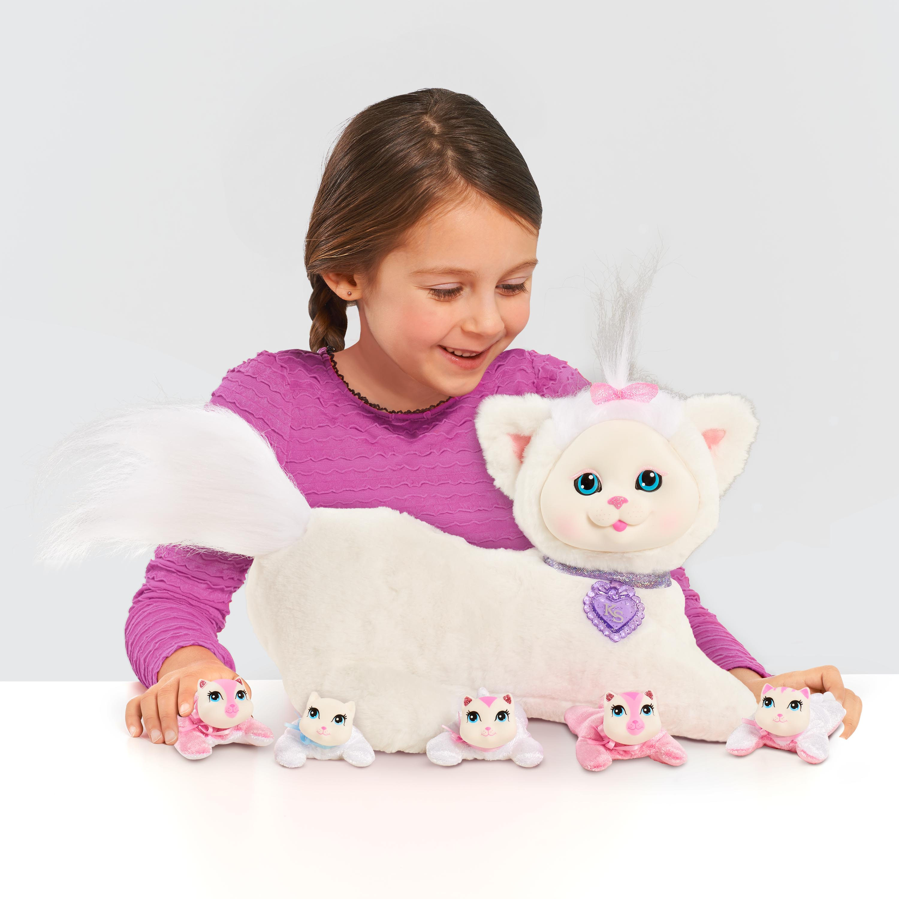 "Kitty Surprise Ivory 14"" Plush"