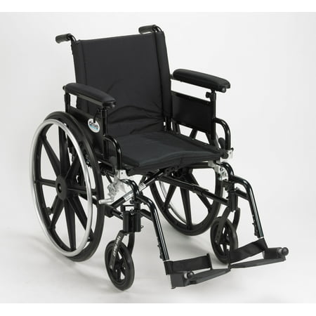 Drive Medical Viper Plus GT Wheelchair with Flip Back Removable Adjustable Full Arms, Swing away Footrests, 16