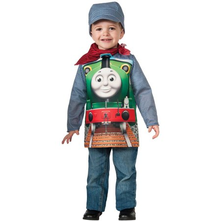 Thomas The Tank Deluxe Percy Toddler Halloween Costume, 3T-4T - Thomas The Train Halloween Costume Toddler