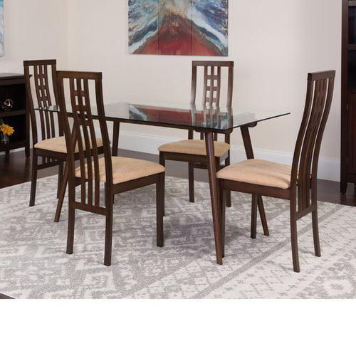 Winston Porter Hundt 5 Piece Solid Wood Dining Set