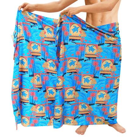 Beach Wear Mens Sarong Pareo Wrap Bathing Suit Resort Towel Swimming Cover ups