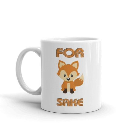 Daiginjo Sake - For Fox Sake Funny Pun Novelty Humor 11oz White Ceramic Glass Coffee Tea Mug Cup