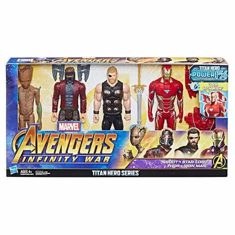 Marvel Avengers Action STATUETTE Infinity War SERIE TITAN HERO 4 Pack POWER FX