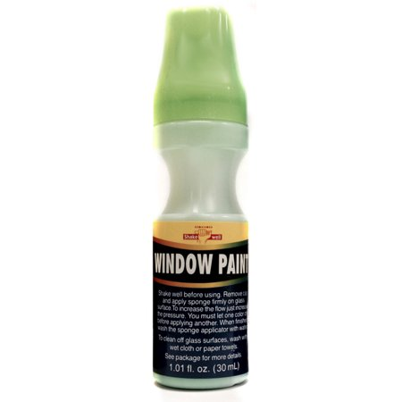 Green School Colors House Car Water Washable Window Paint](Washable Car Window Paint)
