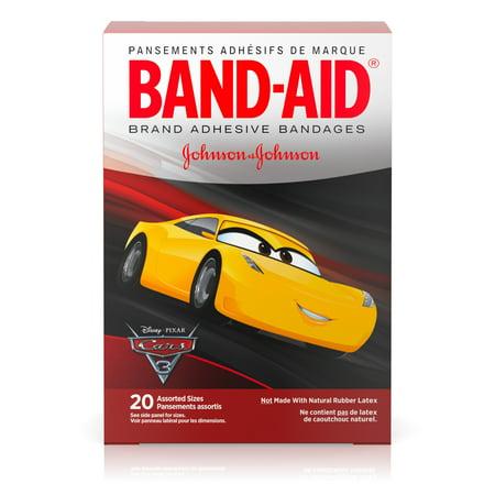 Band-Aid Adhesive Bandages, Disney/Pixar Cars 3 Assorted Sizes 20 ct Acme Adhesive Refill Bandages