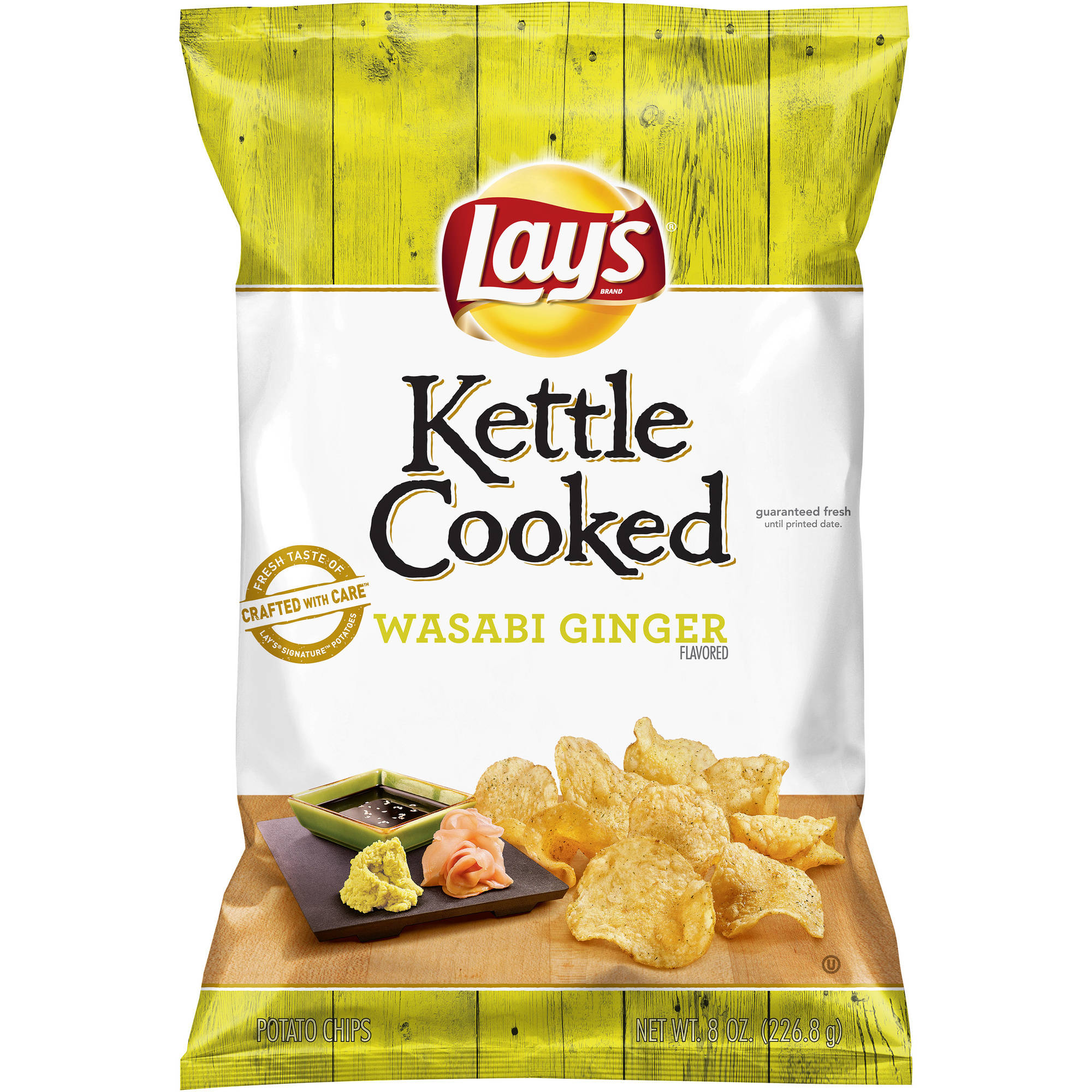 Lay's Kettle Cooked Wasabi Ginger Flavored Potato Chips, 8 oz