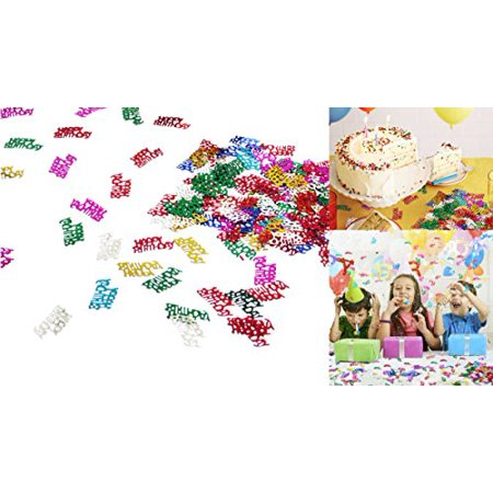 dazzling toys colorful happy birthday words confetti. greatest party decoration.