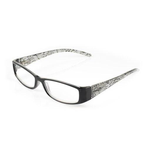 OPTX 20/20 Entwine Unisex Reading Glasses, Black/Crystal
