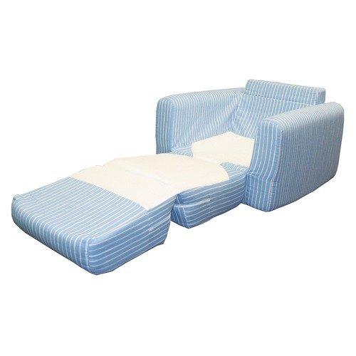 Fun Furnishings Chair Sleeper in Blue Jewel Stripe