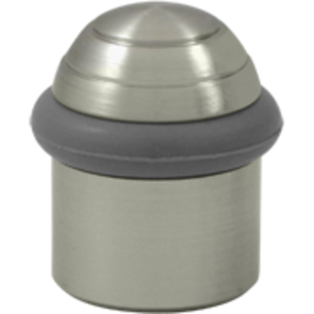 Universal Dome - 1-5/8 Inch Height Solid Brass Round Universal Floor Bumper Dome Cap Brushed Nickel