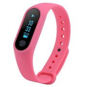 Tebru Pedometer, Bluetooth Sport Smart Wristband Pedometer Heart Rate Monitor Watch Anti-lost Reminder, Smart Bracelet