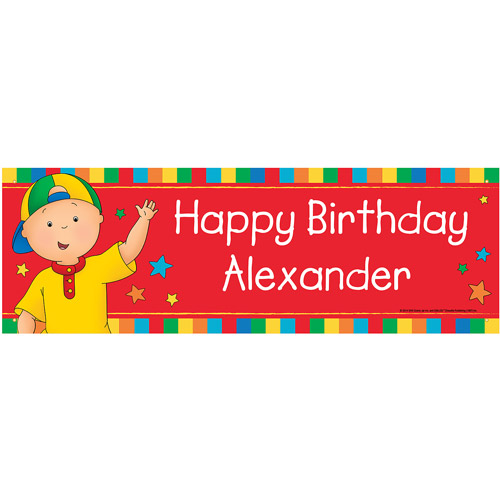 Personalized Caillou Happy Birthday Banner - Walmart.com