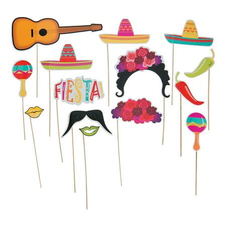 Fun Express - Fiesta Photo Props for Cinco de Mayo - Apparel Accessories - Costume Accessories - Costume Props - Cinco de Mayo - 12 (Photo De Costume D'halloween)