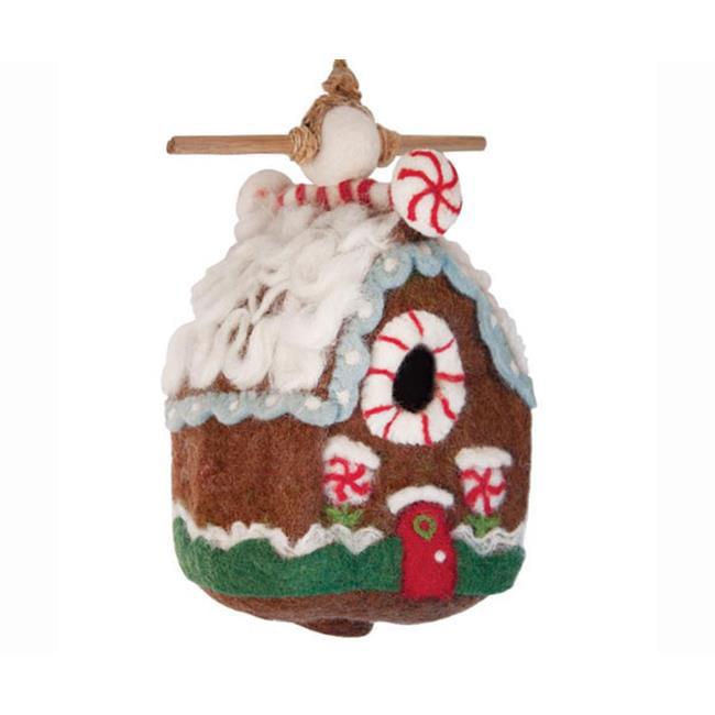 DZI Handmade Designs DZI484047 Gingerbread Chalet Felt Birdhouse
