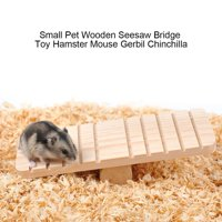 EOTVIA Mouse Seesaw, Hamster Seesaw,Small Pet Wooden Seesaw Bridge Toy Hamster Mouse Gerbil Chinchilla