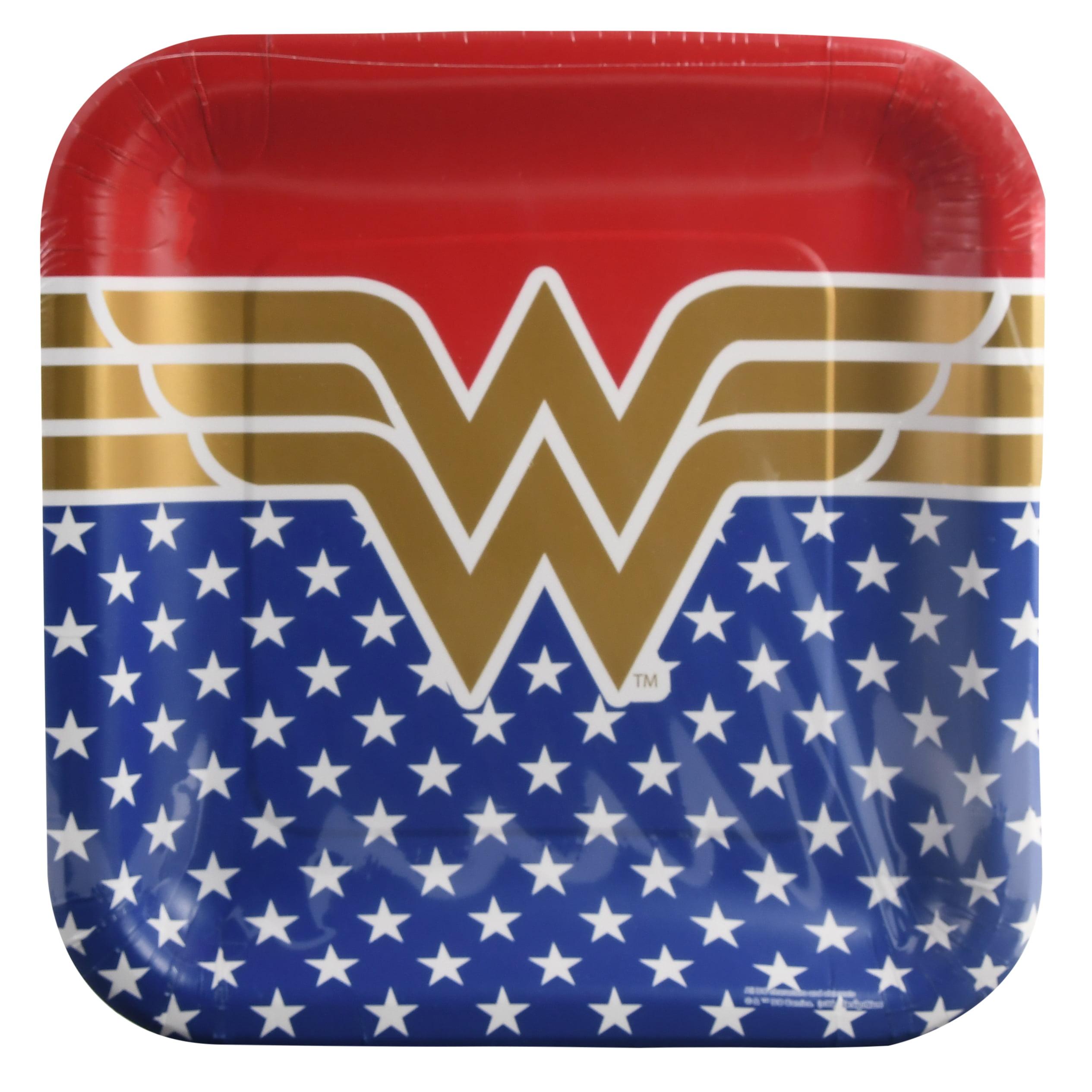 9 Wonder Woman Square Paper Party Plate 8ct Walmartcom