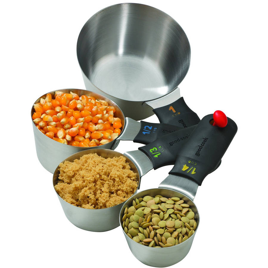 Good Cook Touch 4-Piece Stainless Steel Measuring Cup Set