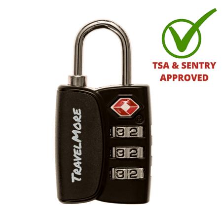 Tsa Luggage Lock With Search Alert   1 Pack Black