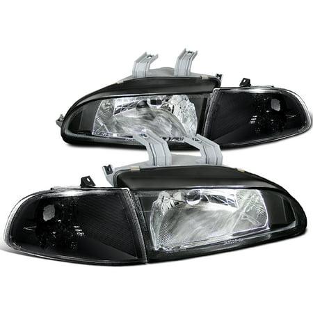 - Spec-D Tuning 1992-1995 Honda Civic Si Dx Cx Hatchback Jdm Black Crystal Corner Lamps Headlights (Left + Right) 92 93 94 95