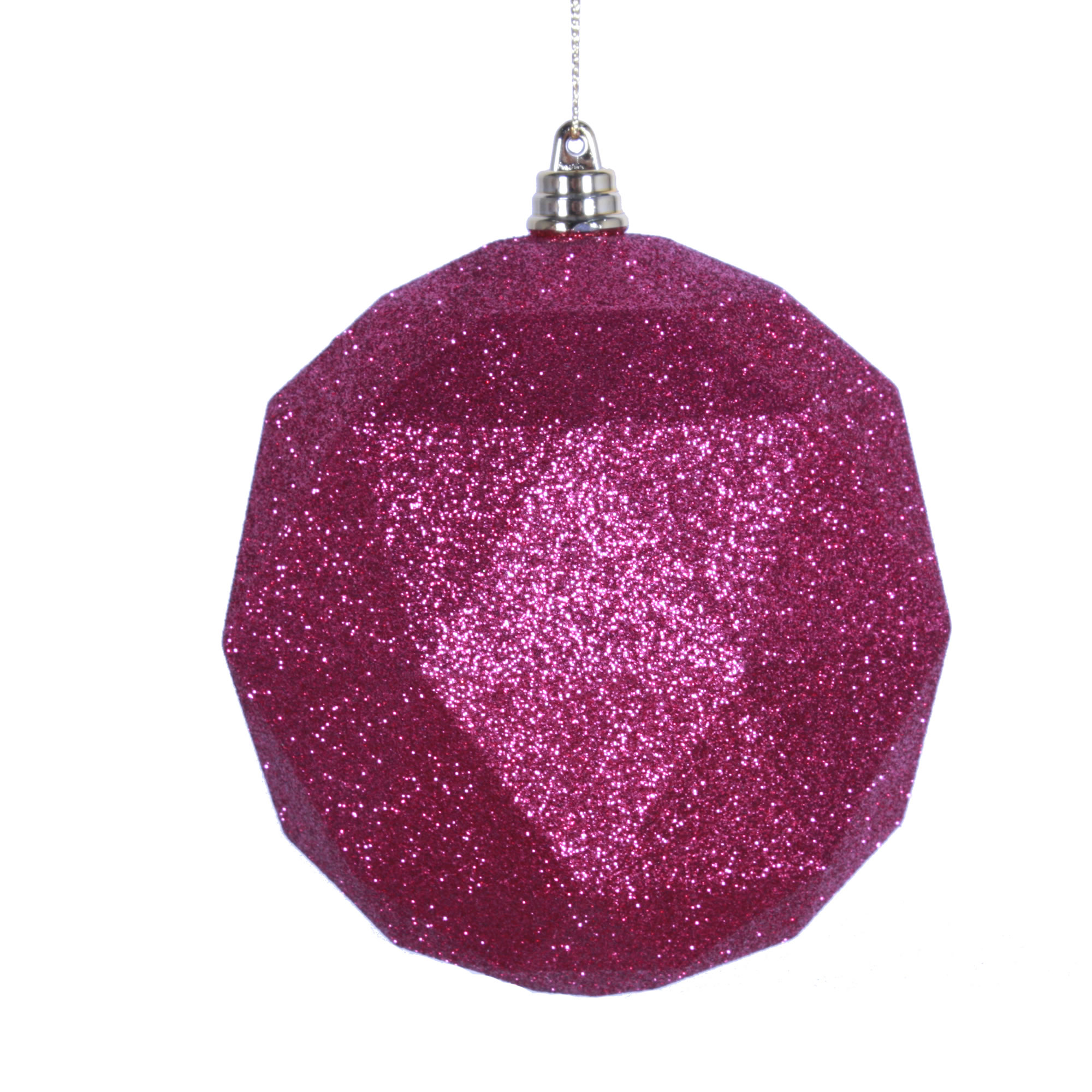 "8"" Mauve Glitter Geometric Ball"