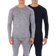 Russell Men's & Big Men's SUPER VALUE 2 PACK L2 Performance Baselayer Thermal Long Sleeve Tops