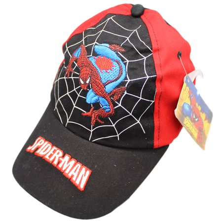 Marvel's Spider-Man on a Web Spider Sense Kids Velcro Adjustable Cap