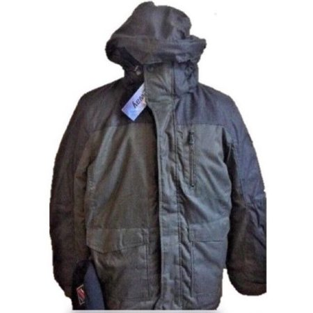 R-WAY Men's Snowboard Ski Jacket Coat w/ Beanie ZEROXPOSUR - Olive Green - Large