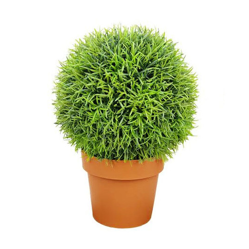 Northlight Seasonal Two-Tone Artificial Pine Ball Topiary Tree in Pot