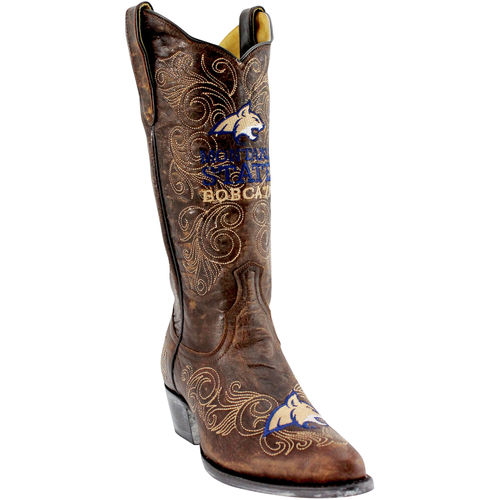 """Women's Brown Montana State Bobcats 13"""" Embroidered Boots by GameDay Boots"""