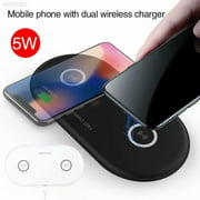 Dual Wireless Charger, Qi Fast Wireless Charging Pad compatible for iPhone Xs Max/XS/XR/X, LG G7 ThinQ / V40 ThinQ, Samsung Galaxy Note 9/S9/S9 Plus, Google Pixel 3/3 XL All Qi-Enabled Devices