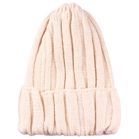 - Enimay Kids Toddler Cable Knit Children's Pom Winter Hat Solid Beanie Beige One Size