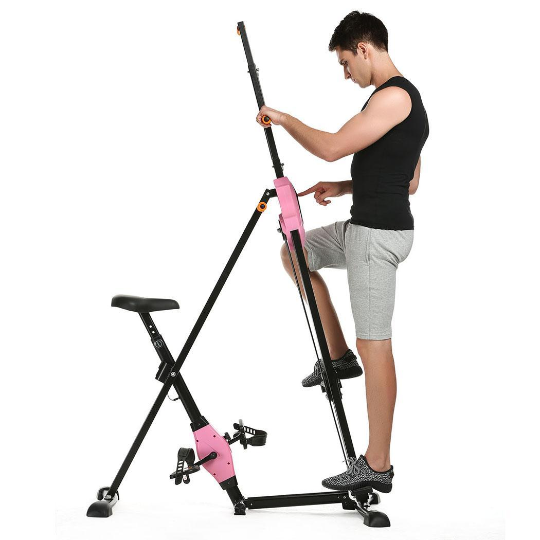 Foldable Vertical Climber Machine Exercise Stepper Cardio Workout Fitness Gym ECLNK