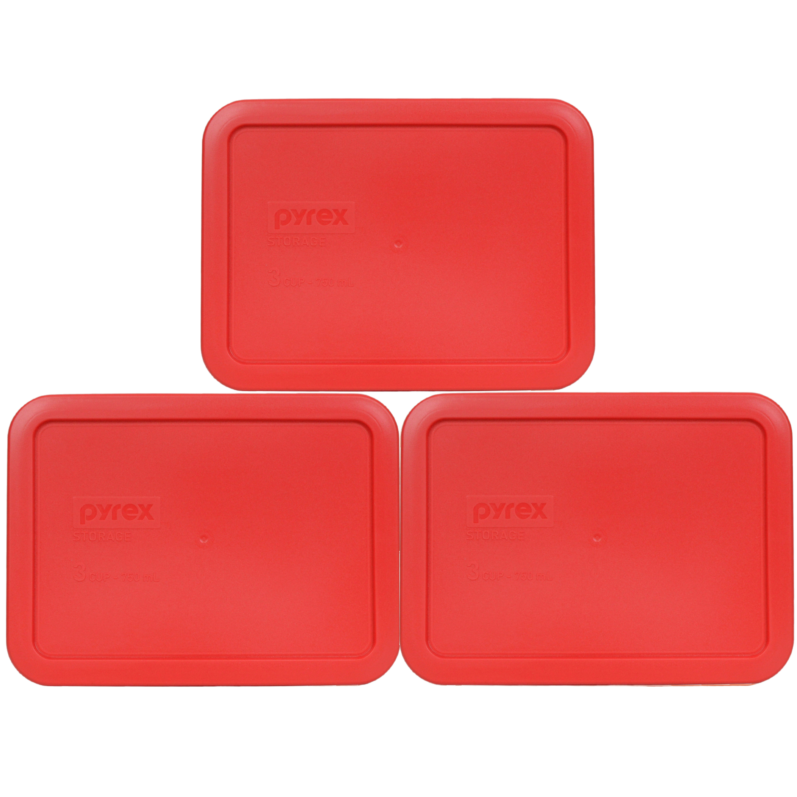 Pyrex Replacement Lid 7210-PC Bahama Sunset Rectangle Cover (3-Pack) for Pyrex 7210 3-Cup Dish (Sold Separately)