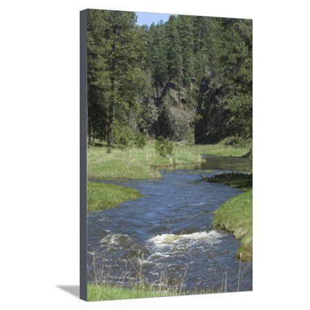 French Creek, Where Gold Was Discovered in the Black Hills, South Dakota Stretched Canvas Print Wall