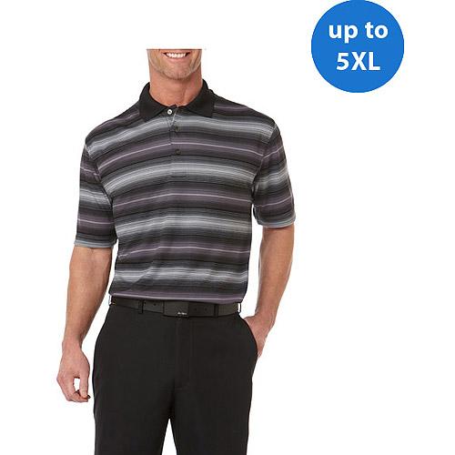 Ben Hogan Big Men's Short Sleeve Print Stripe Fashion Polo