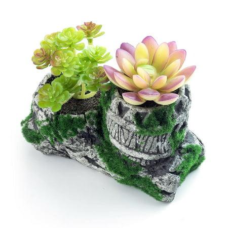 LIVINGbasics Decorative Plastic Artificial Plant,Succulent Greenery Bonsai Plants, 13.5*5.5*11.5cm - image 2 of 2