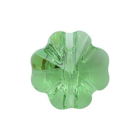 (Swarovski Crystal, #3011 Clover Sew-On Stone Buttons 14mm, 1 Pc, Peridot)
