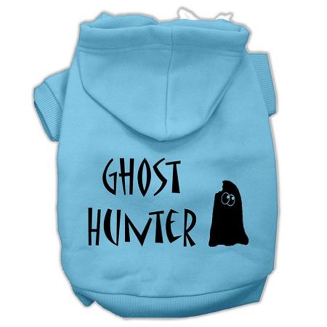Ghost Hunter Screen Print Pet Hoodies Baby Blue With Black Lettering Xl (16) - image 1 of 1