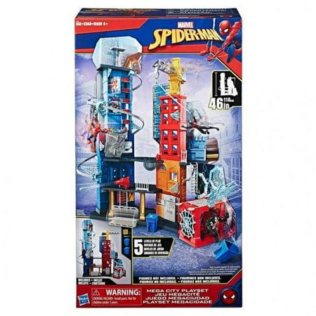 Hasbro Hsbc3408 Marvel Spider Man Mega City Playset   Set Of 2