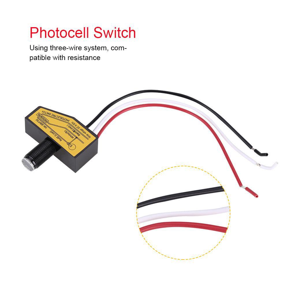 Otviap Mini Light Switching Sensor Remote Photocell Dusk
