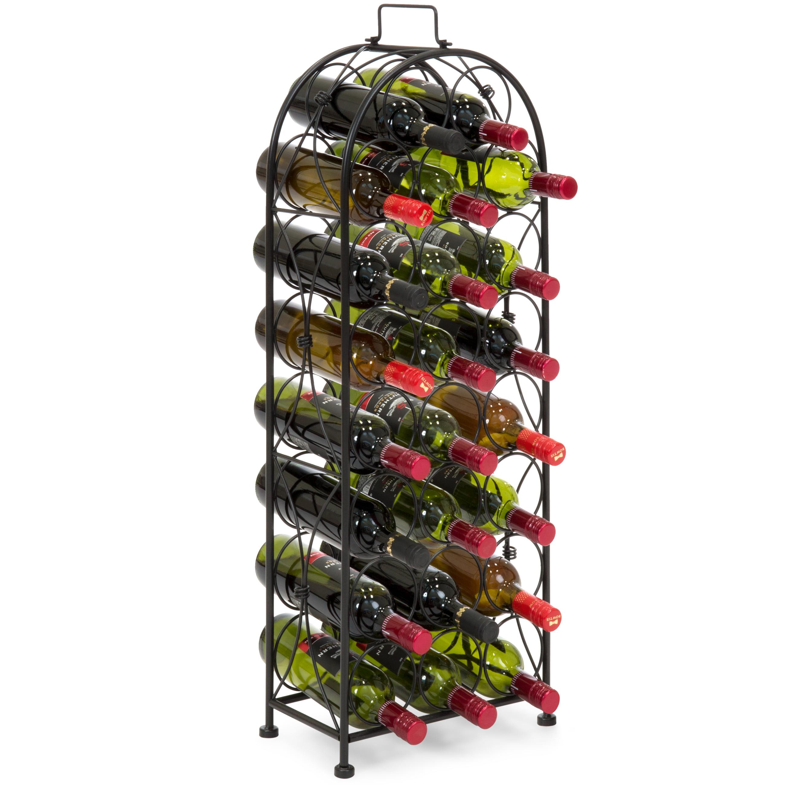 100 Bottle 10 Tier Display Metal Wine Rack