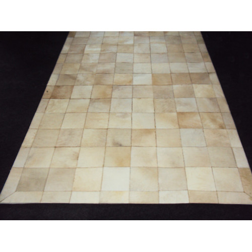 Modern Rugs Patchwork Ivory Box Area Rug