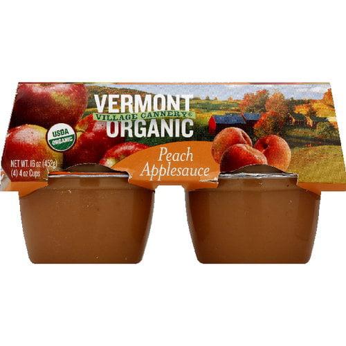 Vermont Village Cannery Peach Applesauce